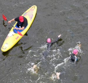 The Great London Swim - Royal Victoria Dock - Safety Kayak