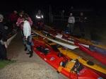 Deben Night Paddle in Sea Kayaks